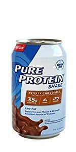 Pure Protein 35g Shake, Frosty Chocolate, 11 Ounces, 12 Count