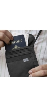 neck wallet secure security safety travel abroad rfid