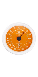 タニタ TANITA 温湿度計 アナログ オレンジ TT-515 OR 壁掛け