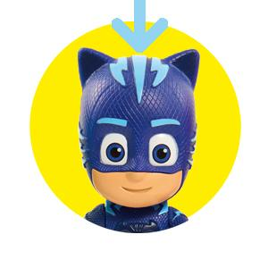 pj masks, pijamas, bandai, juguetes, preescolar, acción, luz, articuladas