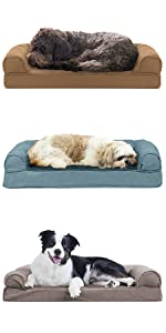 furhaven; in use; dog; sofa; couch