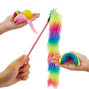 pet craft rainbow pack cat toys