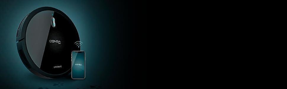 Cecotec Robot Aspirador y Fregasuelos Conga 1090 Connected Force. App Control, Aspira, Barre, friega y Pasa la mopa, Alexa y Google Assistant, Cepillo Especial para Mascotas, Fregado Inteligente: Amazon.es: Hogar