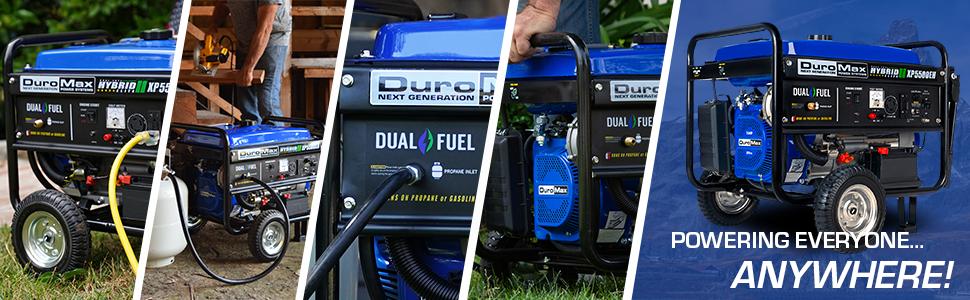 Duromax XP5500EH Dual Fuel Portable Outdoor Life generator