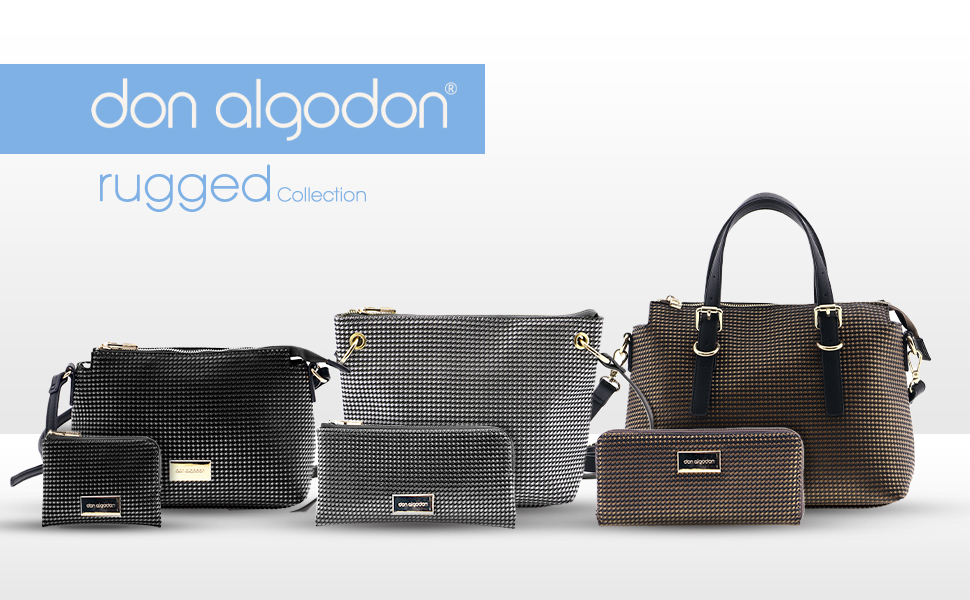 Don Algodón Bolso Bowling Rugged Bronce Mujer: Amazon.es: Equipaje
