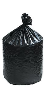 "36 x 58"" Black 55 Gallon Trash Liner"