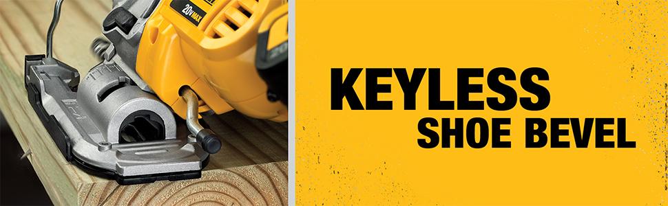 keyless shoe bevel