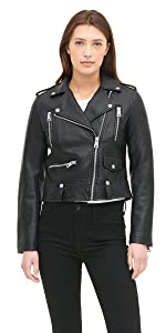 Faux Leather Asymmetrical Motorcycle Jacket