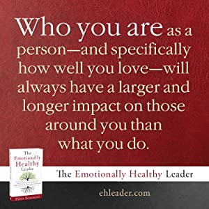 Who you are as a person will have a larger and longer impact