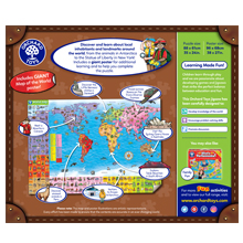 Orchard Toys World Map Puzzle Back of Box