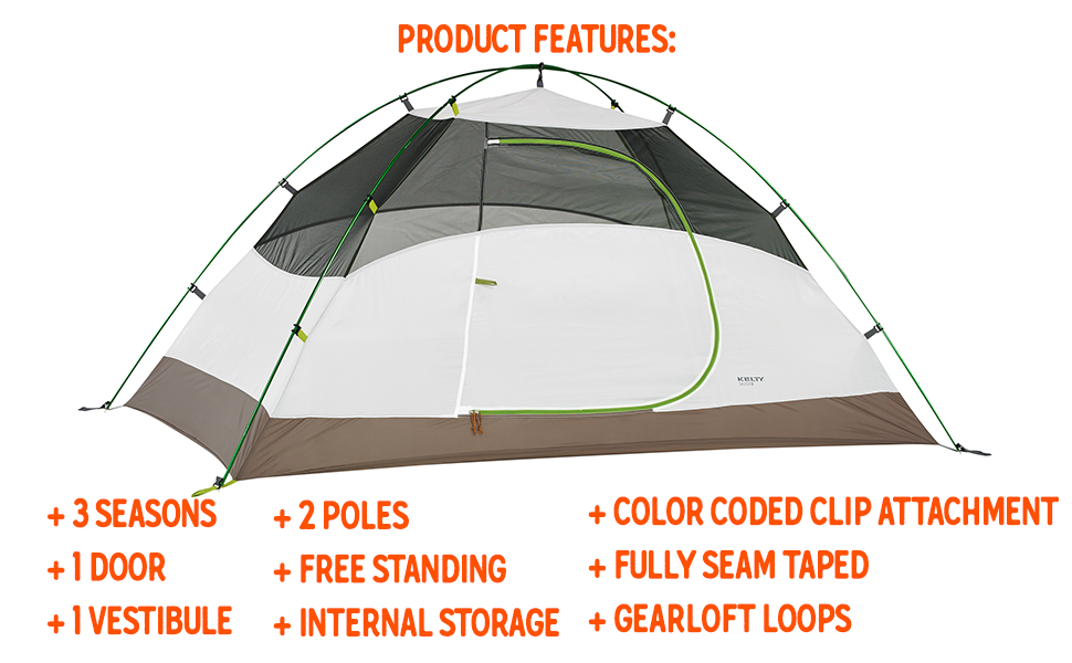 Kelty salida 2 person backpacking tent 2020 camping outdoor