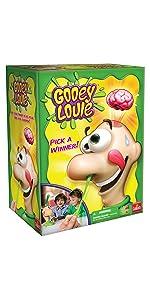 Gooey Louie, nose, boogers, kids, game, brains