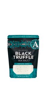 saltworks artisan sea salt black truffle tarufo vero