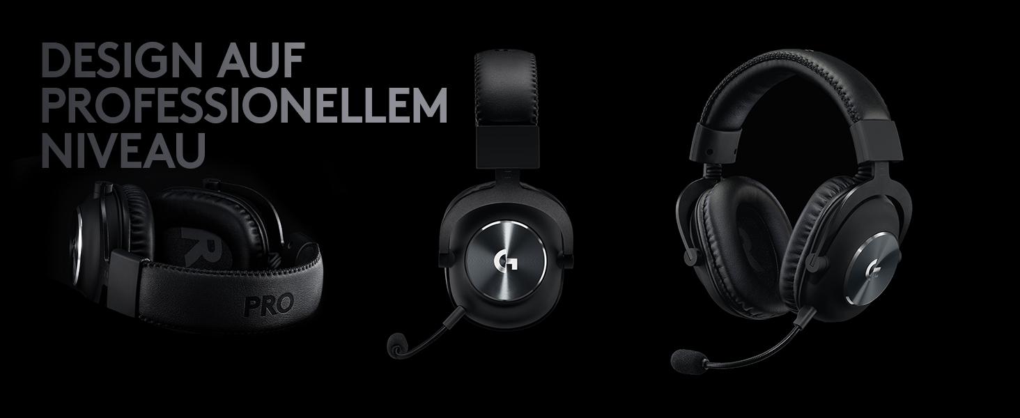Gaming-Headset schwarz komfortabel und strapazierf/ähig mit PRO-G 50-mm-Lautsprechern, Aluminium, Stahl und Memory Foam, f/ür PC, PS4, Switch, Xbox One, VR 2. Generation Logitech G PRO