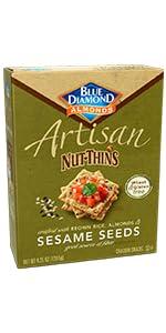 Artisan Nut-Thins Cracker Crisps, Sesame Seeds