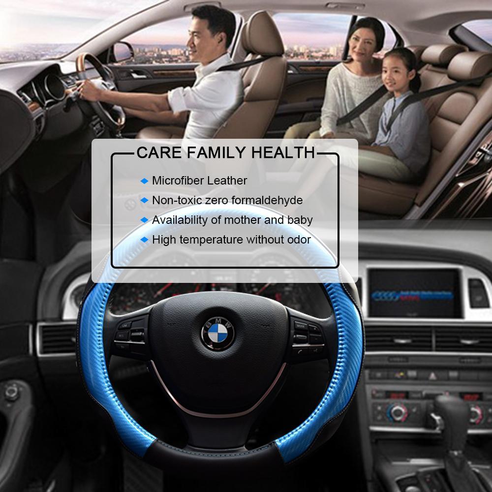 car steering wheel cover automotive interior accessories microfiber leather anti. Black Bedroom Furniture Sets. Home Design Ideas