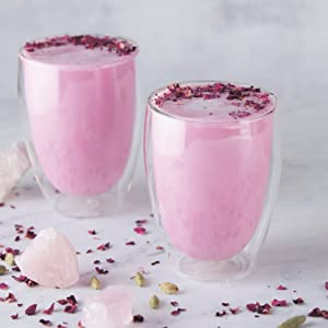 Sahara Rose, Eat Feel Fresh, Ayurveda, Cookbook, Alpha, DK, Rose Latte