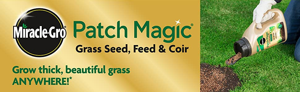 Miracle-Gro Patch Magic Grass Seed, Feed & Coir: Grow thick, beautiful grass anywhere!