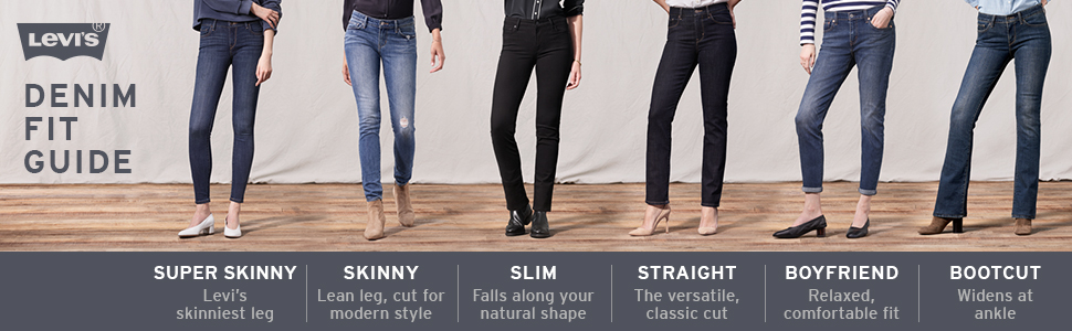 Levi's women's denim fit guide