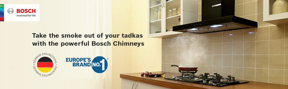 Take the smoke out of your tadkas with the powerful Bosch Chimneys