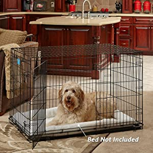 home training and travel series lifestages doubledoor door dog crates by midwest homes