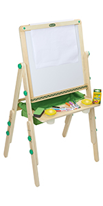 art set with easel, double sided easel, art easel for kids, painting easel for kids, drawing easel