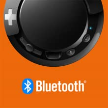 Philips BASS+ SHB3075BK convenient bluetooth wireless connectivity