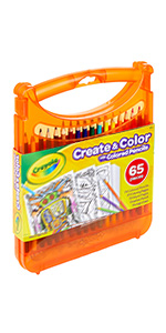 art case, art supplies, coloring kit, colored pencils, crayola art case,