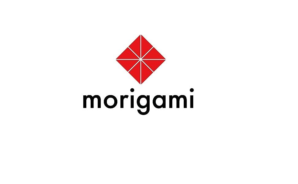 logo, marca, morigami