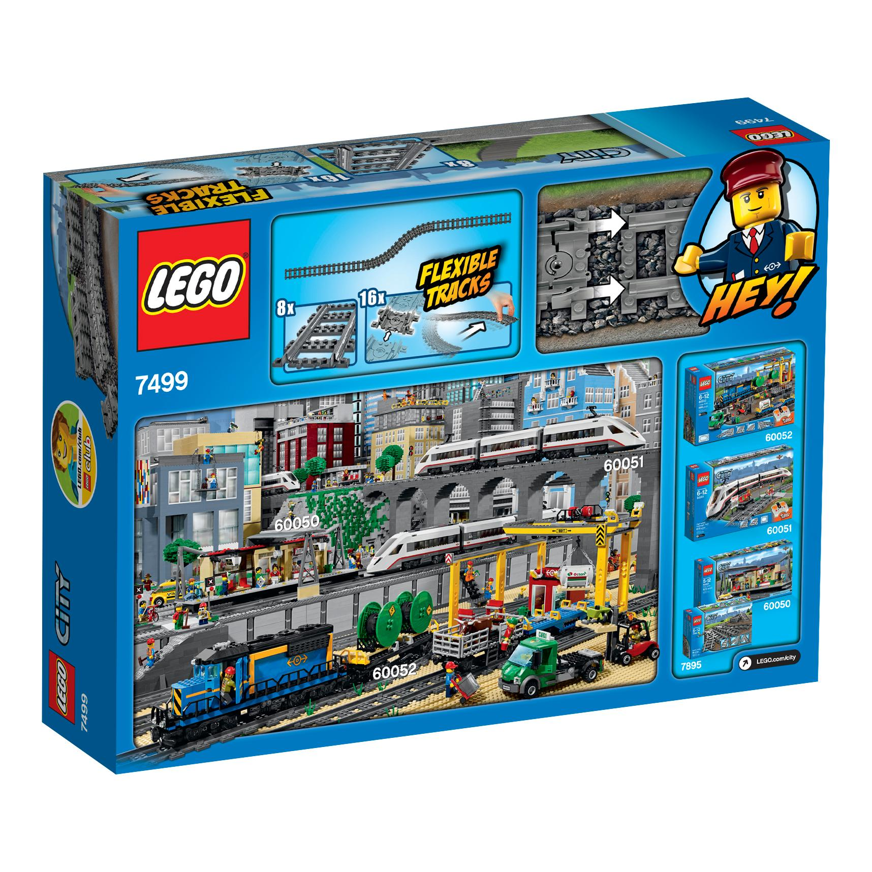 Lego City Toys : Amazon lego city flexible tracks train toy