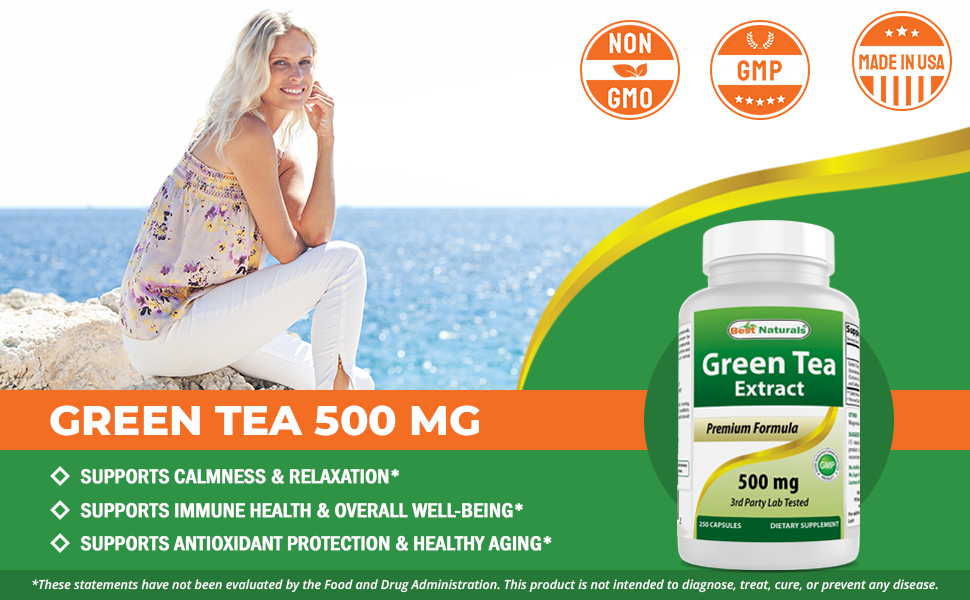 Green Tea Extract 500 mg 250 Capsules