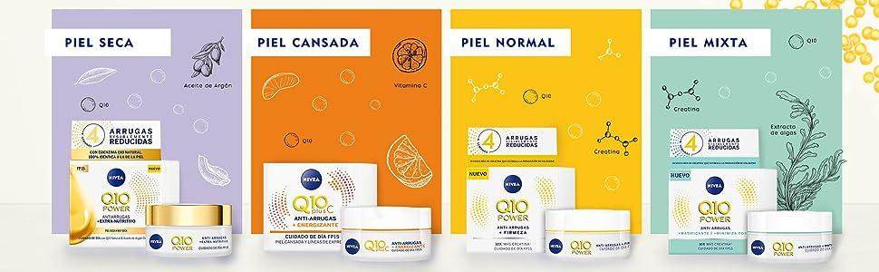 NIVEA Q10 Power Antiarrugas Cuidado de Noche (1 x 50 ml), crema antiarrugas hidratante, crema de noche para reducir las arrugas, crema reafirmante facial: Amazon.es