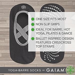 Non-Slip Grip Barre Socks