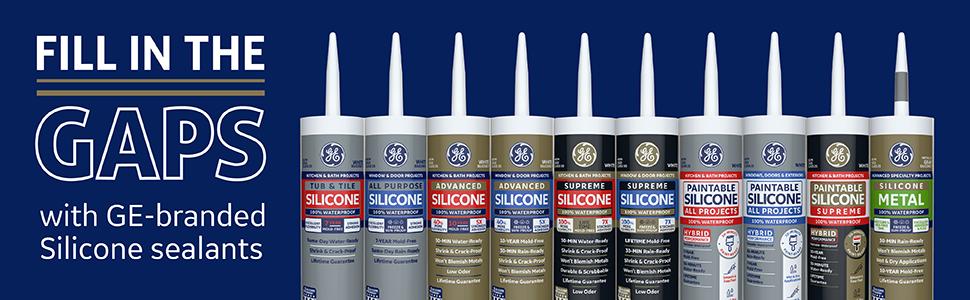 Amazon Com Ge Sealants Adhesives Ge5060 Advanced Silicone 2 Kitchen Bath Sealant 10 1oz Almond Home Improvement