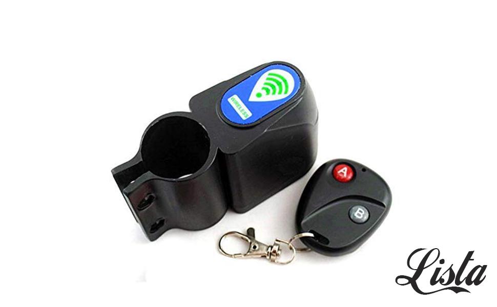 10M Wireless Alarm Lock Bicycle Bike Security System Remote Control Anti-Theft
