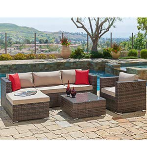 outdoor furniture decor garden furniture beautiful dcor for any living space amazoncom suncrown outdoor furniture sectional sofa chair 6