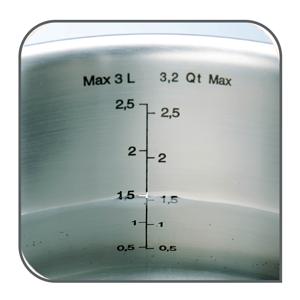 Tefal A702S885 Intuition Set 4 piezas incluye cazo 16 cm y tapa, cacerola 20/24 cm y tapas, olla 28 cm con tapa, acero inoxidable, marcas medición, ...