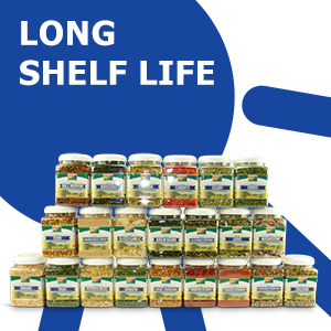 Long Shelf Life, dehydrated vegetables, Mother Earth Products