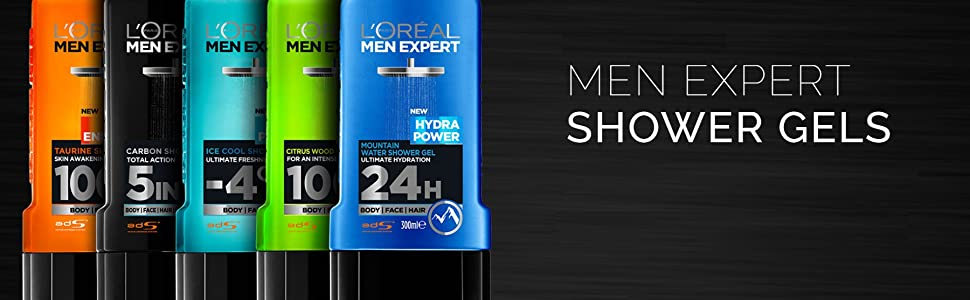 loreal paris men expert shower gels
