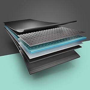 Multi layered running surface