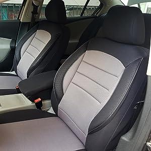 Seatcovers By K Maniac Sitzbezüge Für Audi A4 B8 Avant Universal Schwarz Grau Autositzbezüge Sitzschoner Set Vordersitze Autozubehör Innenraum V730256 Auto