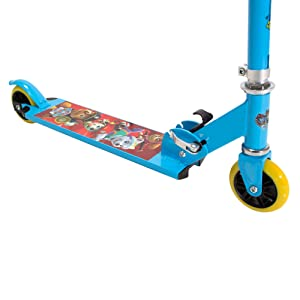 Amazon.com: playwheels Paw Patrol aluminio plegable scooter ...