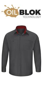Red Kap Mens Performance Plus Shop Shirt with Oilblok Technology Shirt