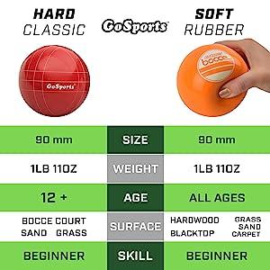 gosports bocce game set kids adults lawn yard games bocci set bowling boccia balls safe family fun
