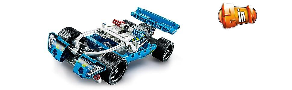 Amazon Com Lego Technic Police Pursuit 42091 Building Kit 120 Pieces Toys Games