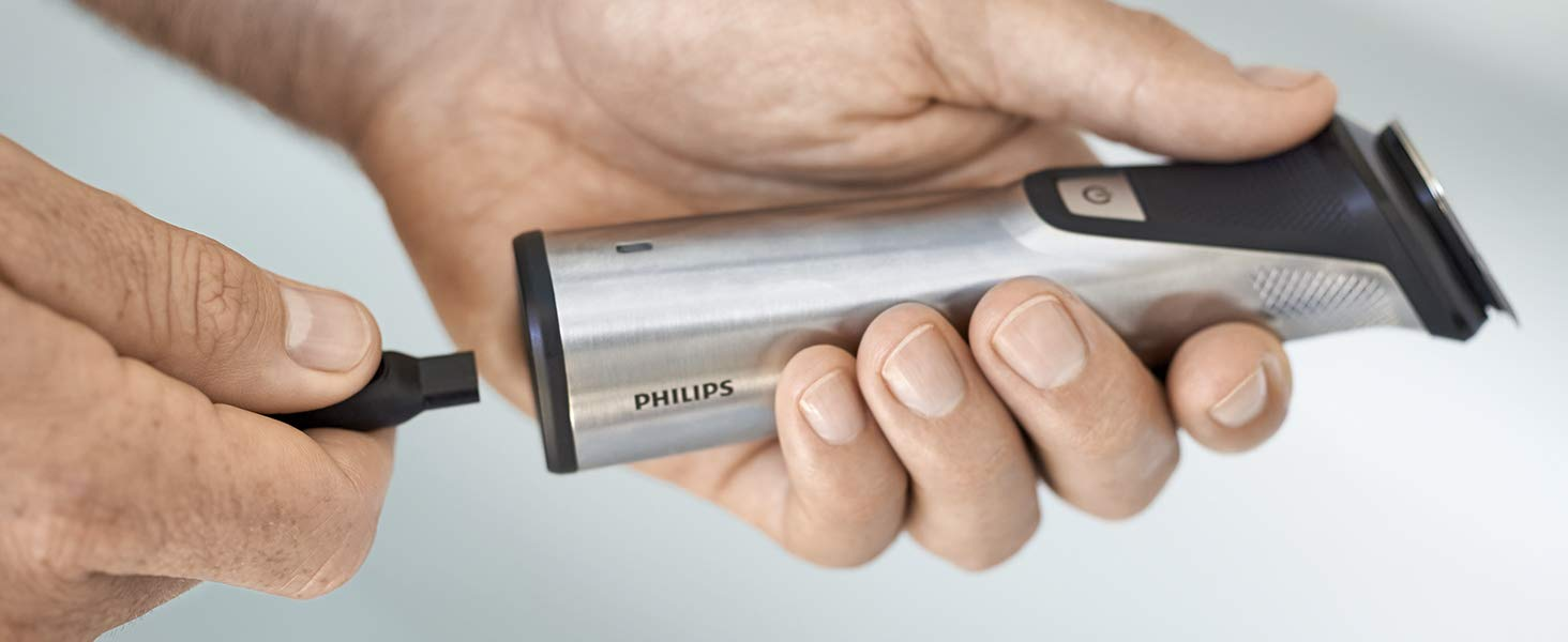 Philips Barbero MG7770/15 Recortador de barba y pelo, óptima ...