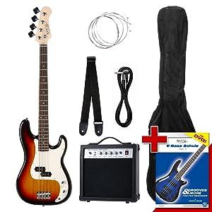 Rocktile Groovers Pack - Bajo eléctrico PB, color sunburst: Amazon ...