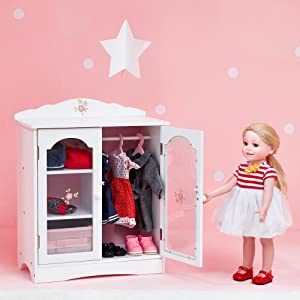 american.girl.cloth.closet.storage.dollhouse.house.toy.play.gift