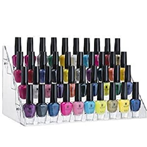Amazon.com: Home-it Nail polish holder Acrylic 5 Step Counter ...