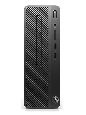 HP 290 G1 SFF - Ordenador de sobremesa profesional (Intel Core i3-8100, 4GB RAM, 128GB SSD, Intel Graphics, Windows 10 Pro) Negro - Teclado QWERTY ...